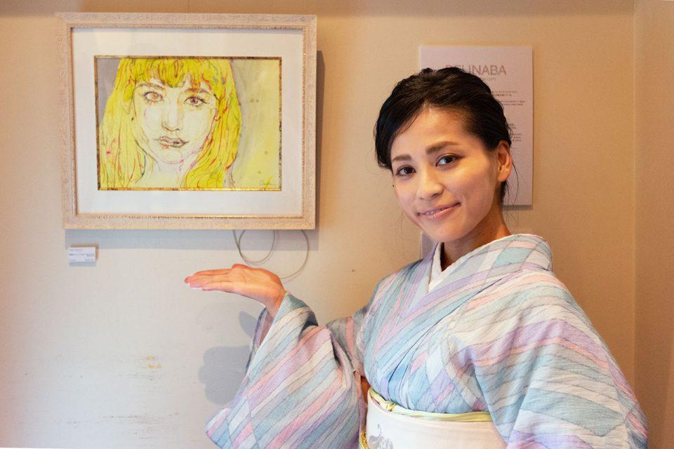 KAISU展示と稲葉さん