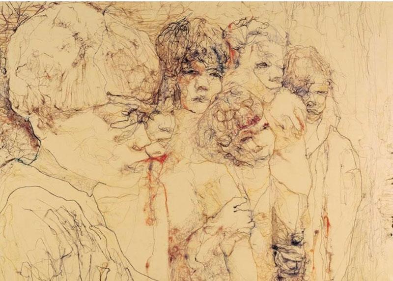 初期の繊維画