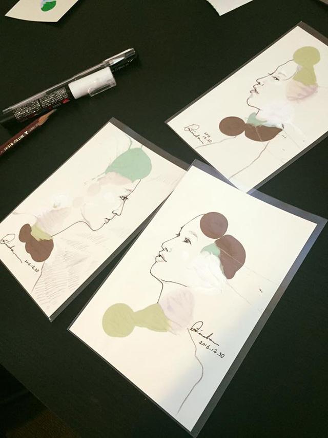 現地で制作したポストカード