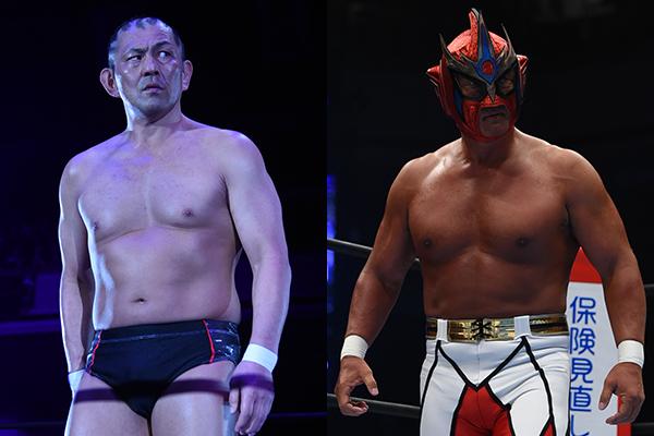 鈴木みのる選手と獣神サンダー・ライガー選手