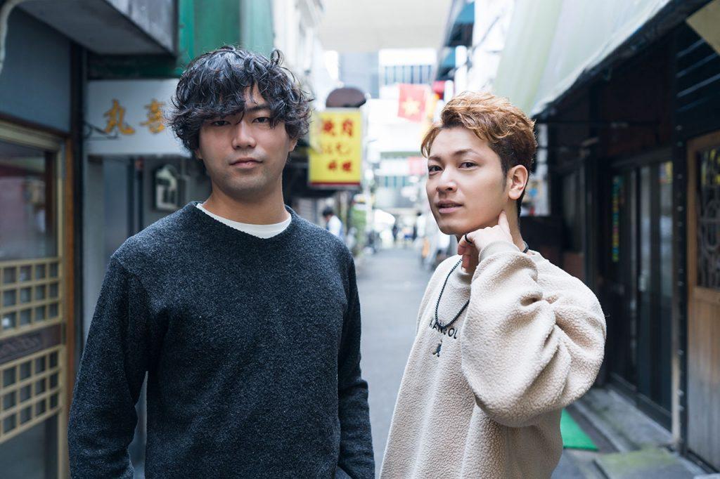 (左)仕事仲間であり映像ディレクターの永田佳大